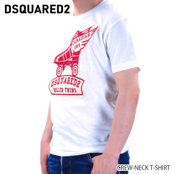 【予約】【並行輸入品】『DSQUARED2-ディースクエアード-』CREW-NECK T-SHIRT クルーネック Tシャツ ロゴ 半袖 メンズ [S74GD0678S22507/G]≪ご注文後3日前後発送予定≫【スーパーSALE開催☆ポイント最大44倍!!6/11 01:59マデ】