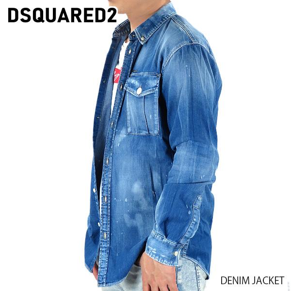 【予約】【並行輸入品】『DSQUARED2-ディースクエアード-』DENIM JACKET デニムジャケット Gジャン 長袖 メンズ[S74DM0379S30341/G]≪ご注文後3日前後発送予定≫