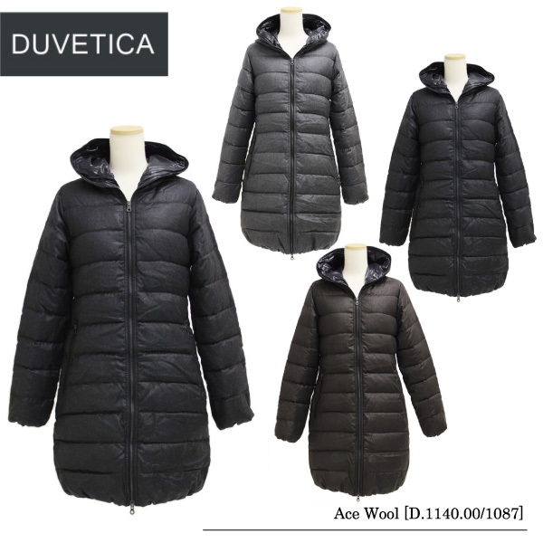 【送料無料】【DUVETICA-デュベティカ-】Ace Wool [D.1140.00/1087][レディース・ロングダウン・フード付き]