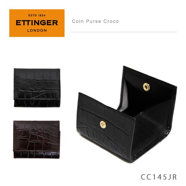 【予約】【送料無料】【NEW】【並行輸入品】『Ettinger-エッティンガー-』Coin Purse Croco 〔CC145JR〕《ご注文後3日前後発送予定》