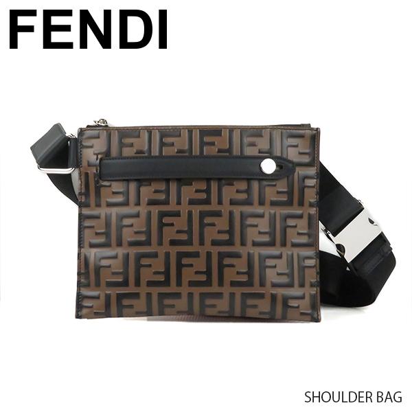 【送料無料】【2019 SS】【新作】【並行輸入品】『FENDI-フェンディ-』SHOULDER BAG[7VA437A5PJ]-FFロゴ モノグラム柄 ベルトバッグ ショルダーバッグ-