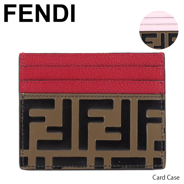 {フェンディ FENDI カードケース 定期入れ FFモノグラム バイカラー 8M0269A6CB} 【送料無料】【2019SS】【並行輸入品】『FENDI-フェンディ-』Card Case カードケース 定期入れ FFモノグラム バイカラー[8M0269A6CB]