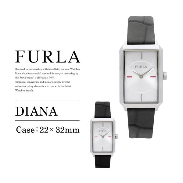 【予約】【送料無料】『FURLA-フルラ-』DIANA 〔R4251104503/R4251104505〕[ディアーナ レディース 腕時計 スクエア型 ウォッチ クォーツ フォーマル レザー ]《ご注文後3日前後発送予定》