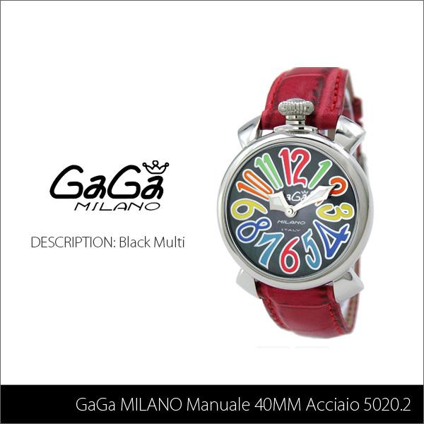 【送料無料】【LaGアウトレット】【訳あり:箱無し】【GaGa MILANO-ガガ ミラノ-】Manuale 40MM Acciaio 5020.2 Black Multi[5020.2]