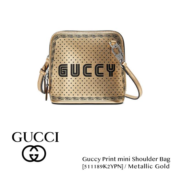 【送料無料】【並行輸入品】【2018 SS】『GUCCI-グッチ-』Guccy print mini shoulder bag-プリント ミニ ショルダーバッグ-[511189K2YPN]