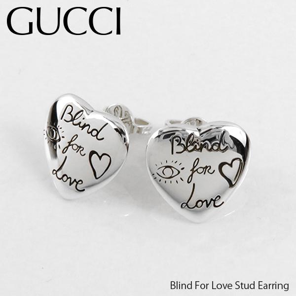 【並行輸入品】《返品交換不可》『GUCCI-グッチ-』Blind For Love Stud Earring ブラインドフォーラブ ピアス ハート〔YBD45525500100U〕《ご注文後3日前後発送予定》