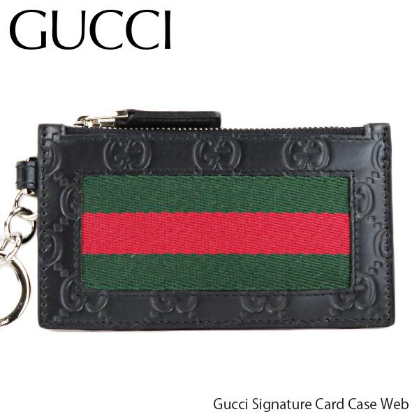 GUCCI グッチ Gucci Signature Card Case Web グッチシグネチャー カードケース ウェブ コインケース レディース[523815 CWCLN 1060]