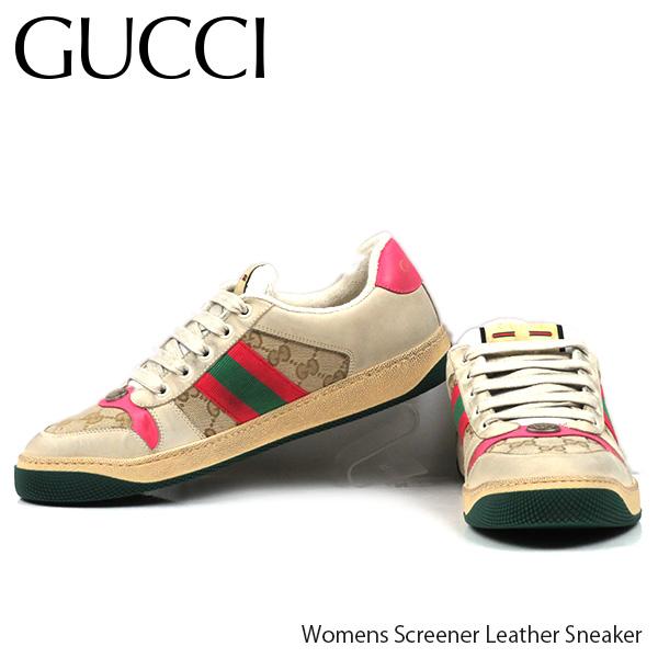 【予約】【並行輸入品】『GUCCI-グッチ-』Womens Screener Leather Sneaker[570443 9Y920 9665]ウーマンズ スクリーナー レザー スニーカー ≪ご注文後3日前後発送予定≫【スーパーSALE開催☆ポイント最大44倍!!6/11 01:59マデ】