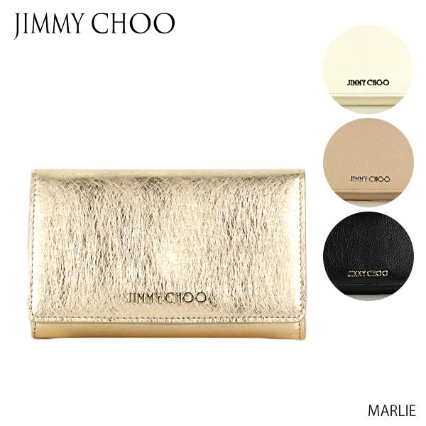 【送料無料】【並行輸入品】『JIMMY CHOO-ジミーチュウ-』MARLIE 二つ折り財布 コンパクトウォレット