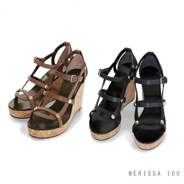 【送料無料】【並行輸入品】【2018 AW】『JIMMY CHOO-ジミーチュー-』NERISSA 100 -ネリッサ- 10cmウエッジサンダル -