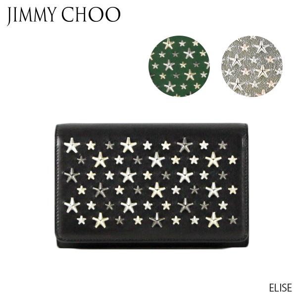 【送料無料】【並行輸入品】【2019 SS】『JIMMY CHOO-ジミーチュウ-』ELISE- エリーゼ ショルダー付き長財布 -[NELLIE/ENL]