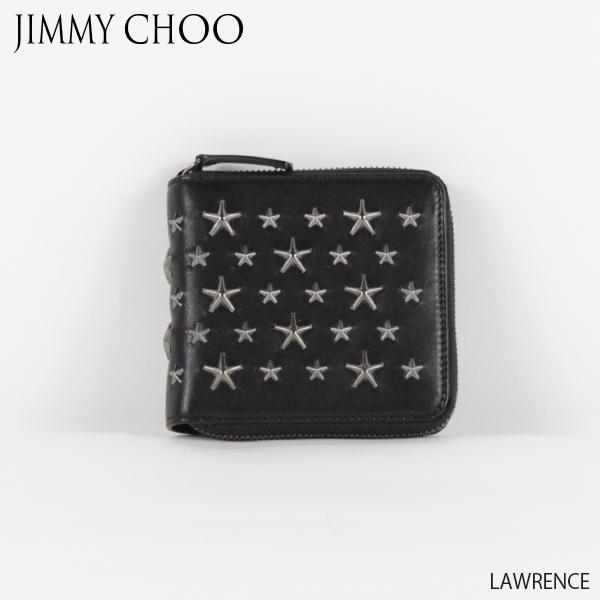【送料無料】【並行輸入品】【2018 AW】『JIMMY CHOO-ジミーチュウ-』LAWRENCE-ローレンス-ラウンドジップ 二つ折り財布
