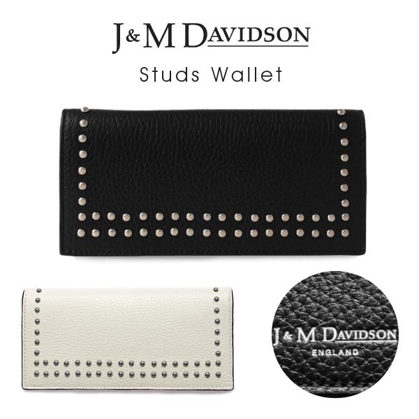 【送料無料】【並行輸入品】『J&M Davidson-ジェイアンドエムデヴィッドソン-』Studs Wallet〔10081N/7266〕[スタッズ ウォレット]