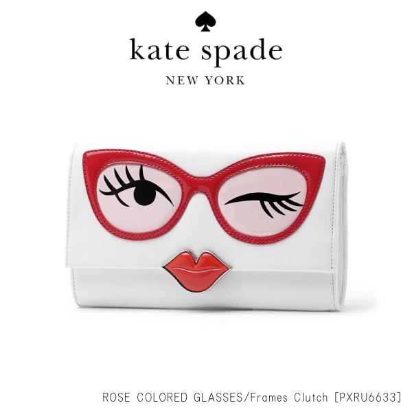 【148時間限定ポイント最大43倍!お買い物マラソン】【送料無料】『Kate Spade-ケイトスペード-』ROSE-COLORED GLASSES frames clutch[PXRU6633][レディース クラッチ バッグ パーティバッグ]