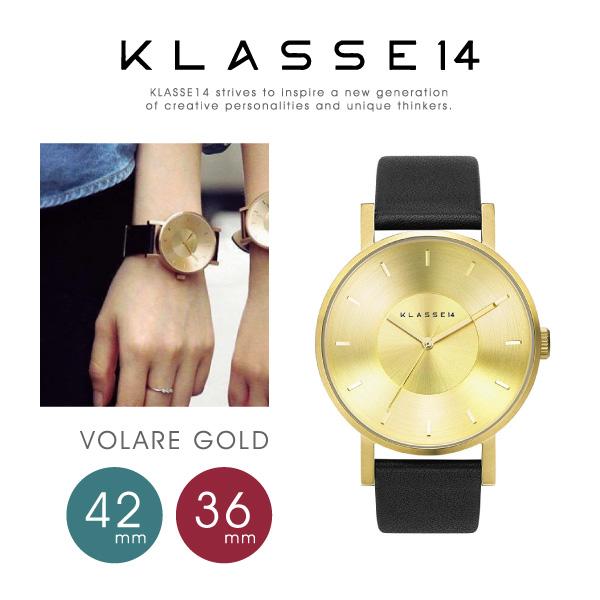 【送料無料】【並行輸入品】『KLASSE14-クラスフォーティーン-』VOLARE Gold 36mm/42mm〔VO14GD001〕