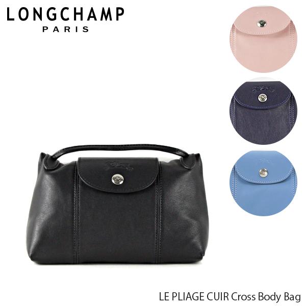 【並行輸入品】【2019 SS】『Longchamp-ロンシャン-』LE PLIAGE CUIR Cross Body Bag ル・プリアージュ キュイール ショルダーバッグ 〔1061 737〕