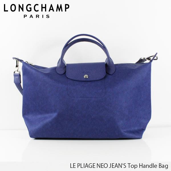【並行輸入品】【2019 SS】『Longchamp-ロンシャン-』LE PLIAGE NEO JEAN'S Top Handle Bag ル・プリアージュ ネオ ジーンズ トートバッグ 〔1630 690〕