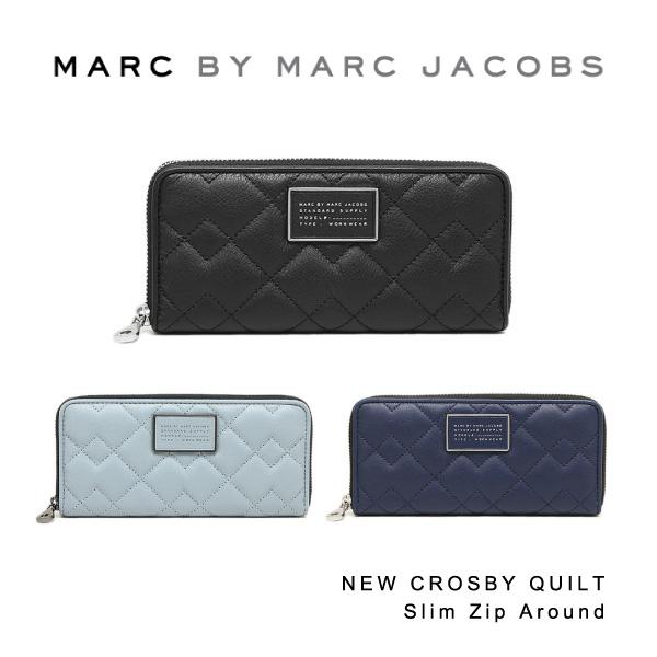 【148時間限定ポイント最大43倍!お買い物マラソン】【送料無料】【並行輸入品】『Marc by MarcJacobs-マークバイマークジェイコブス』NEW CROSBY QUILT Slim Zip Around[M0007656]