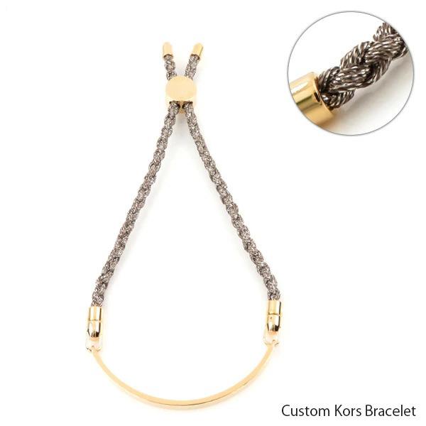 【予約】【並行輸入品】『MICHAEL KORS-マイケルコース-』Custom Kors Bracelet カスタムコース ブレスレット 14K ローズゴールドメッキ スターリングシルバ― レディース[MKC10449X791]≪ご注文後3日前後発送予定≫