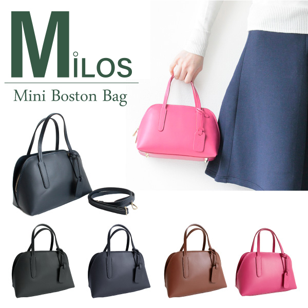 『Milos-ミロス-』Mini Boston Bag 〔1577〕大感謝祭 ポイント最大44倍!!
