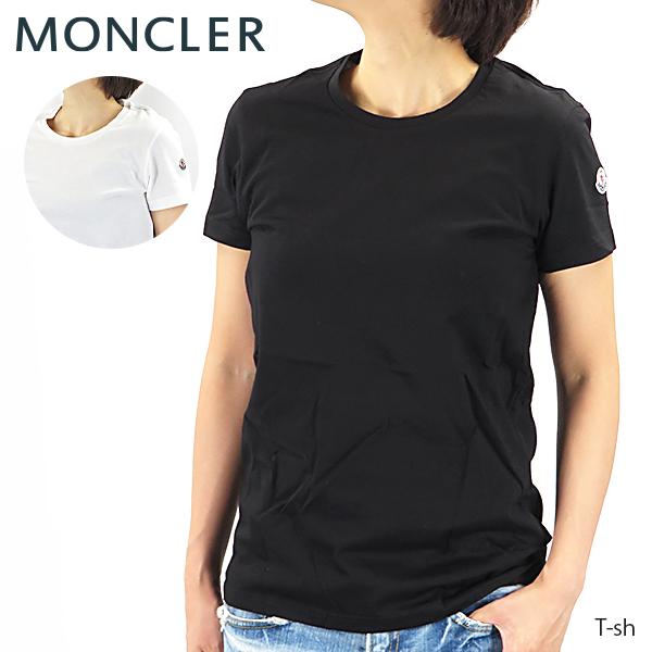【送料無料】【2019 AW】【並行輸入品】『MONCLER-モンクレール-』T-sh レディース Tシャツ 半袖 クルーネック ロゴパッチ[80904 00 V8058]