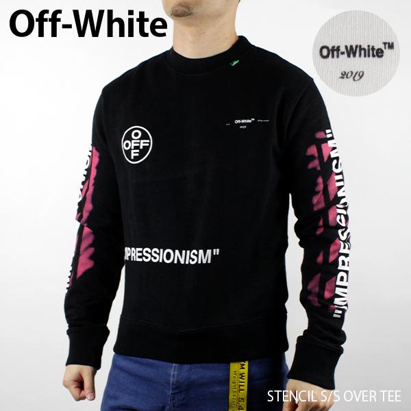 【送料無料】【2019 SS】【新作】『Off-White-オフホワイト-』DIAG STENCIL SLIM CREWNECK-ダイアグ ステンシル スリム スウェット トレーナー 〔OMBA025R19003015〕ポイント最大44倍!!スーパーセール!