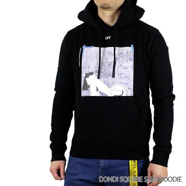【送料無料】【2019 SS】【新作】『Off-White-オフホワイト-』DONDI SQUARE SLIM HOODIE-ドンディ スクエア スリム パーカー〔OMBB034R19B97008〕