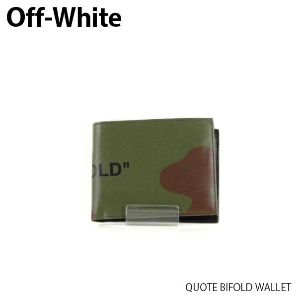 【送料無料】【2019 SS】【新作】『Off-White-オフホワイト-』QUOTE BIFOLD WALLET-クオート バイフォールド カモフラ柄 ウォレット-〔OMNC008R19853023〕