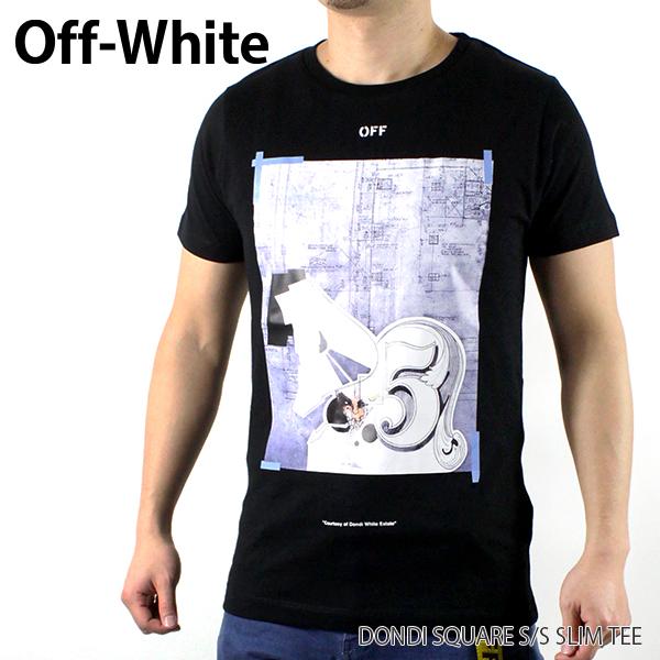 【150時間限定ポイント最大43倍!お買い物マラソン】【送料無料】【2019 SS】【新作】『Off-White-オフホワイト-』DONDI SQUARE S/S SLIM TEE-ドンディ スクエア スリム 半袖Tシャツ-〔OMAA027R19185008〕