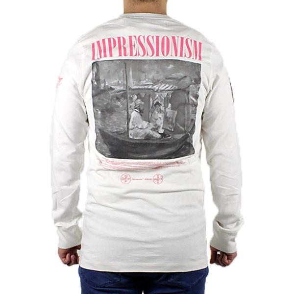 【2019 SS】【新作】『Off-White-オフホワイト-』BOAT L/S TEE-ボート ロングスリーブ Tシャツ-〔OMAB001R19185011〕