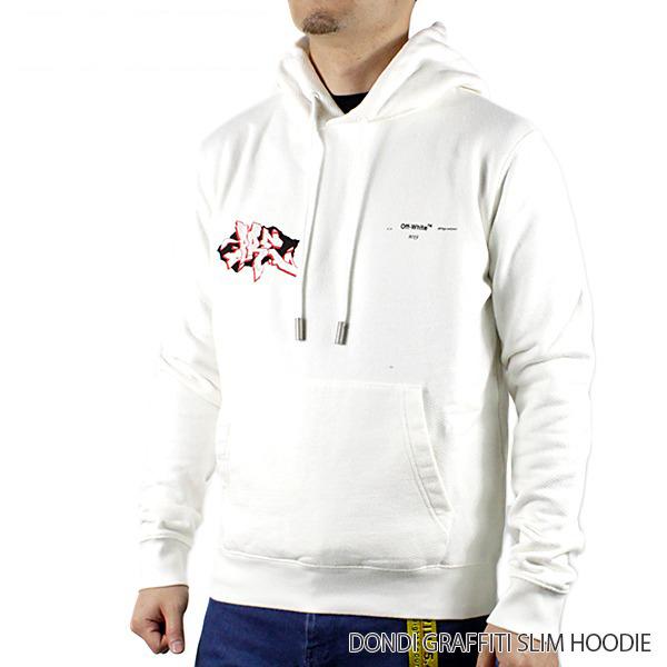 【150時間限定ポイント最大43倍!お買い物マラソン】【送料無料】【2019 SS】【新作】『Off-White-オフホワイト-』DONDI BUS SLIM HOODIE-ドンディ バス スリム フーディ-・パーカー-〔OMBB034R19B97006〕