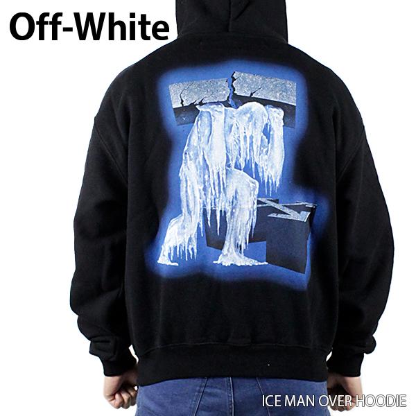 【送料無料】【2019 SS】【新作】『Off-White-オフホワイト-』ICE MAN OVER HOODIE-アイスマン オーバーサイズ フーディ-・パーカー-〔OMBB037R19B97001〕【スーパーSALE開催☆ポイント最大44倍!!6/11 01:59マデ】