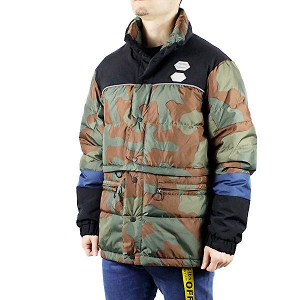 【送料無料】【2019 SS】【新作】『Off-White-オフホワイト-』PUFFER ALL OVER-パッファ オールオーバー ダウンジャケット-〔OMED013R19C02021〕