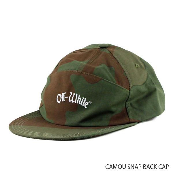 【送料無料】【2019 SS】【新作】『Off-White-オフホワイト-』CAMOU SNAP BACK CAP-カモ スナップ バック キャップ-〔OMLB014R19C04026〕