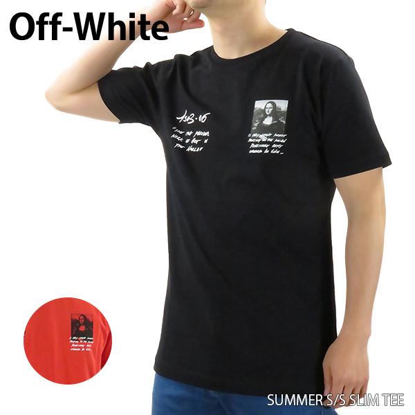 【送料無料】【2019 SS】【新作】『Off-White-オフホワイト-』MONNALISA S/S SLIM TEE〔OMAA027S19185005〕-モナリザプリント クルーネックTシャツ ブラック レッド-【スーパーSALE開催☆ポイント最大44倍!!6/11 01:59マデ】