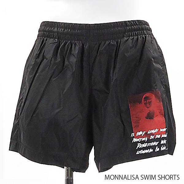 【送料無料】【2019 SS】【新作】『Off-White-オフホワイト-』MONNALISA SWIM SHORTS〔OMFA003S19A23005〕-モナリザプリント 水着 スイミングパンツ プール スイムウェア -ポイント最大44倍!!スーパーセール!