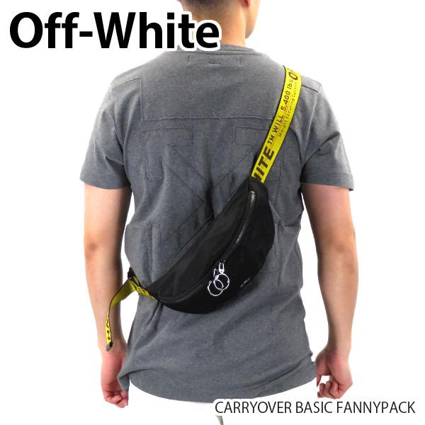 【送料無料】【2020 SS】【並行輸入品】『Off-White-オフホワイト-』CARRYOVER BASIC FANNYPACK キャリーオーバー ベーシック ファニーパック ボディバッグ メンズ[OMNA074R20E48001]