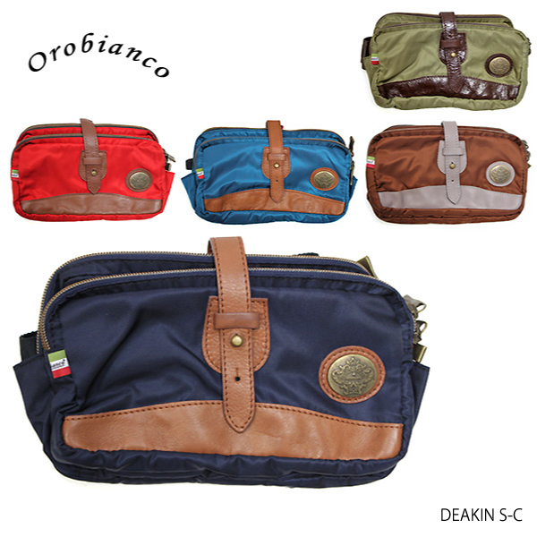 【送料無料】【並行輸入品】『Orobianco-オロビアンコ-』DEAKIN S-C-ボディバッグ-[OR161][メンズ・バッグ・ショルダー・レザー・リモンタナイロン]