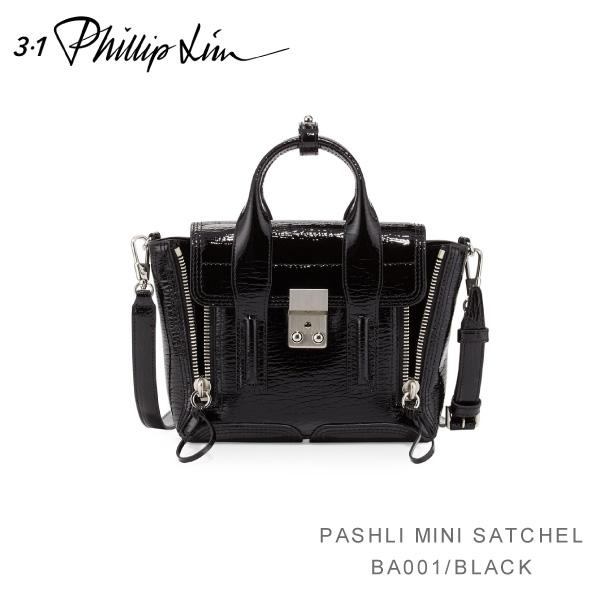 【送料無料】『3.1 Phillip Lim-スリーワンフィリップリム-』PASHLI MINI SATCHEL PSK PATENT SHARK EMBOSS〔AH16-0226〕