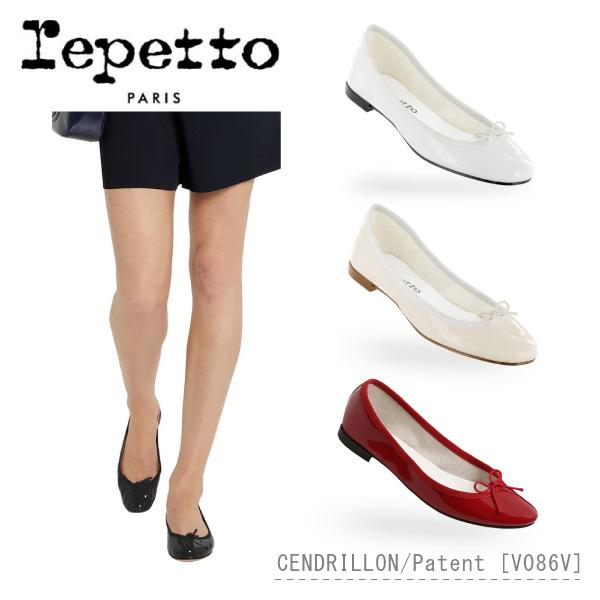 【送料無料】【並行輸入品】【2018 SS】『repetto-レペット-』Cendrillon Patent バレエパンプス [V086V]-サンドリオン パテント-