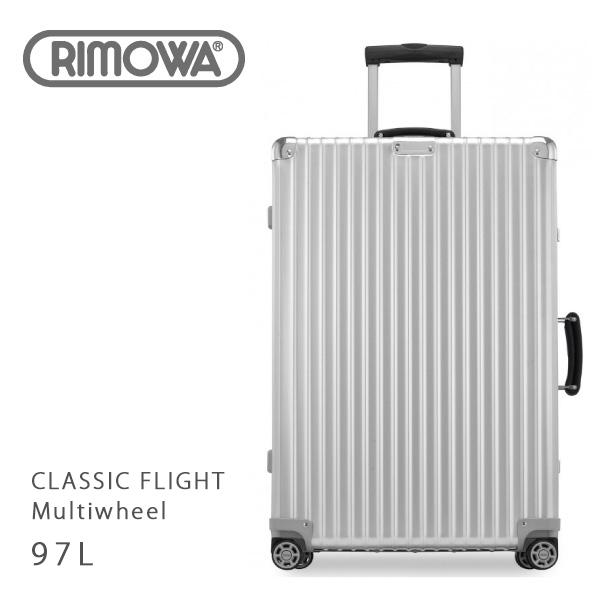 【送料無料】【返品交換不可】【並行輸入品】『RIMOWA-リモワ-』CLASSIC FLIGHT Multiwheel 971.77.00.4 [97L/4輪][8泊~10泊]