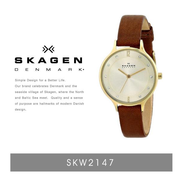 『SKAGEN-スカーゲン-』Anita Leather Watch〔SKW2147〕[レディース 腕時計 レザー 本革]