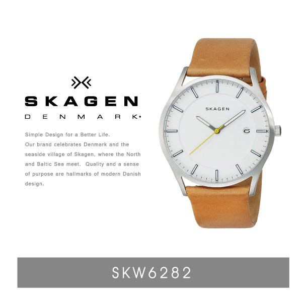 【送料無料】『SKAGEN-スカーゲン-』Holst Leather Watch〔SKW6282〕[メンズ 腕時計 ビジネス 薄型 軽量 ホルスト レザー 本革]