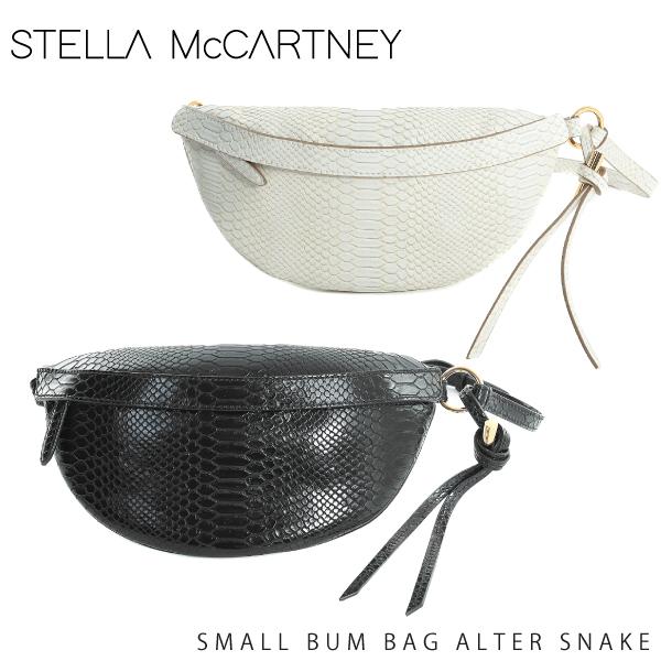 【送料無料】【並行輸入品】【2018-19AW】『STELLA McCARTNEY-ステラマッカートニー-』SMALL BUM BAG ALTER SNAKE〔513891 W8272〕-パイソン ウエストポーチ ボディバッグ-