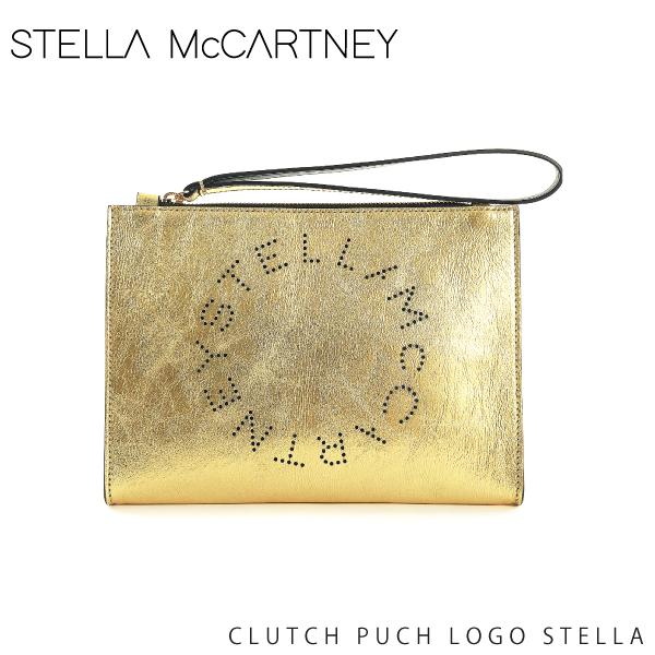 【送料無料】【並行輸入品】【2018-19AW】『STELLA McCARTNEY-ステラマッカートニー-』CLUTCH PUCH LOGO STELLA〔502892 W8324〕-ステラロゴクラッチバッグ -