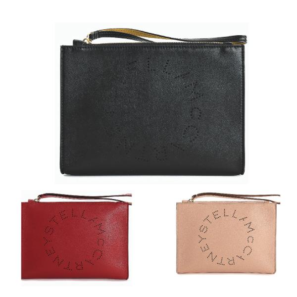 【送料無料】【並行輸入品】【2018-19AW】『STELLA McCARTNEY-ステラマッカートニー-』CLUTCH PUCH LOGO STELLA〔502892 W9923〕-ステラロゴクラッチバッグ -