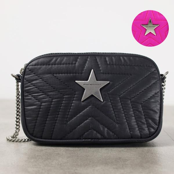 【送料無料】【2019 AW】【並行輸入品】『STELLA McCARTNEY-ステラマッカートニー-』Mini Crossbody Stella Star Eco Soft Nylon ショルダーバッグ チェーンバッグ レディース[581259W8540]