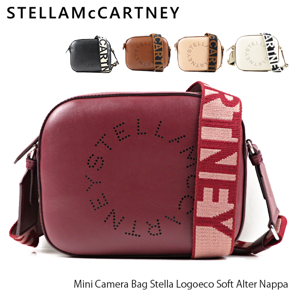 {STELLA McCARTNEY ステラマッカートニー ショルダーバッグ カメラバッグ レディース 無地 ロゴ} 【送料無料】【2019 AW】【並行輸入品】『STELLA McCARTNEY-ステラマッカートニー-』Mini Camera Bag Stella Logoeco Soft Alter Nappa ショルダーバッグ カメラバッグ レディース[557907W8542]超ポイントバック祭 ポイントバック最大41倍!!