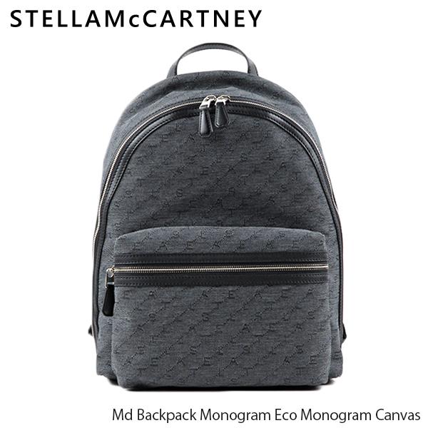 【送料無料】【2019 AW】【並行輸入品】『STELLA McCARTNEY-ステラマッカートニー-』Md Backpack Monogram Eco Monogram Canvas レディースバックパック リュック キャンバス モノグラム[581295W8566]