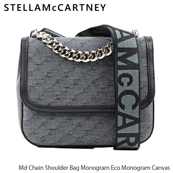 【送料無料】【2019 AW】【並行輸入品】『STELLA McCARTNEY-ステラマッカートニー-』Md Chain Shoulder Bag Monogram Eco Monogram Canvas レディース ショルダーバッグ キャンバス モノグラム[581291W8566]
